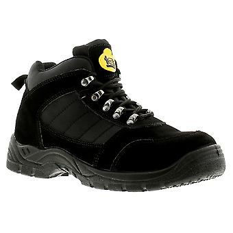 Tradesafe Foundation Mens Safety Boots Black UK Size