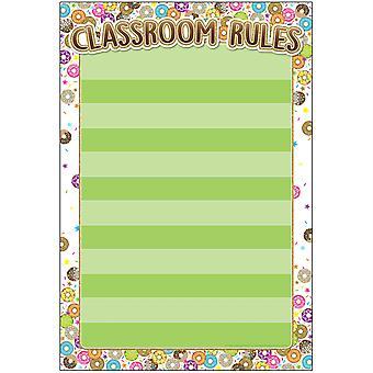 "Smart Poly Chart, Donutfetti Classroom Rules, 13"" X 19"""