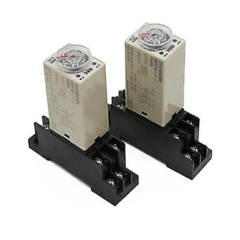 H3y-2 Ac 220v Delay Timer Relay Switch 0-30 Minute Seconds Adjustable 5a With