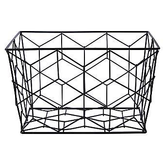 Vertex Contour Storage Basket, Black