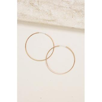 Sass Hoops In Rose Gold - Small
