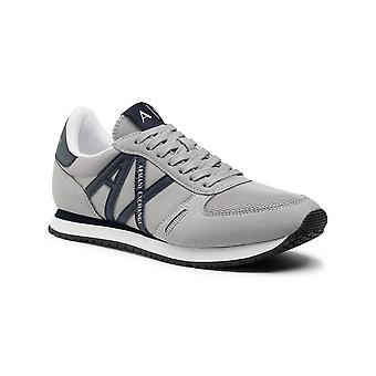 Running Armani Exchange Micro Suede/ Nylon Mesh Grey Sneaker Us21ax09 Xux017
