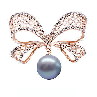 Delicate Brooch Pin Hollow Bow Corsage Diamond Inlaid Ladies Brooch