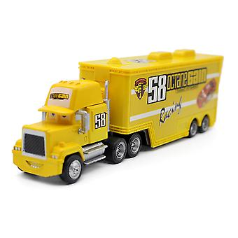 Carros No. 58 Container Truck Trailer Alloy Children's Toy Car Model