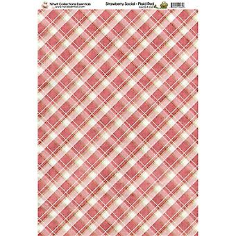Nitwit Collection - SS Plaid Red Paper A4 10 Sheets