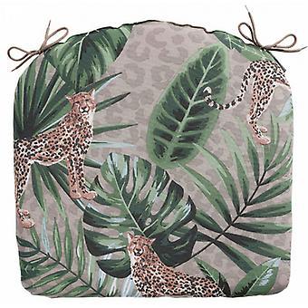 almofada de assento Lenny 46 x 48 cm algodão/taupe de poliéster