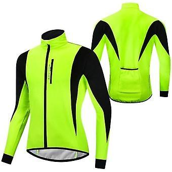 Men Cycling Winter Thermal Jacket Windproof Long Sleeve Bike Jersey Bicycle Wind Coat Outdoor Sportswear
