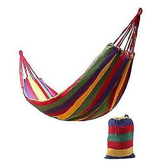 185 * 80Cm red portable single swing hammock outdoor garden home travel camping striped rainbow swing canvas hammock az6297