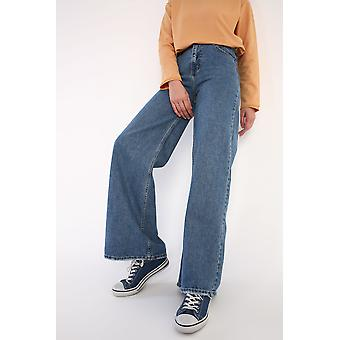 Flare Buttoned Jeans With Pockets