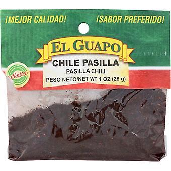 El Guapo Chili Pasilla Grnd, Case of 12 X 1 Oz
