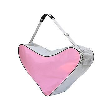 Mesh Tuch Tote Bag Skating Dreieck Tasche Schultertasche High-Kapazität Paket (rosa)