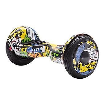 """Material Certificado® E-Scooter Elétrico Hoverboard - 10 """"- 350W - Bateria de 2000mAh - Smart Balance Board Graffitti"""