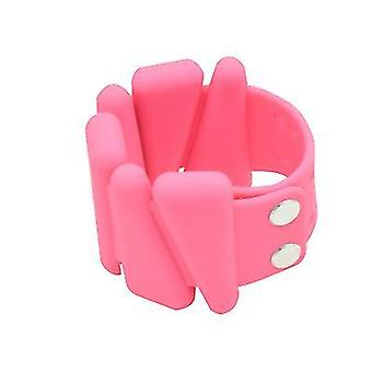Hot Selling Yoga Fitness Weight Bracelet Silicone Wrist Band(Pink)
