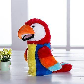 Pelúcia Mão Fantoche Soft Animals Puppet Bird Papagaio Fantoche de Mão para Crianças Fingem Jogar Bonecas, 28CM