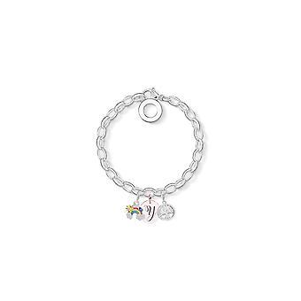 Rainbow Charm Armband täckt med kristaller från Swarovski - Initial Y