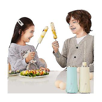Breakfast Machine Mini Egg Sausage Machine Automatic Household Stainless Steel Egg Roll(White)