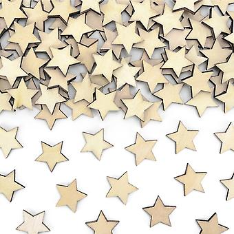 50 Mini Wooden Stars for Christmas Papercrafts