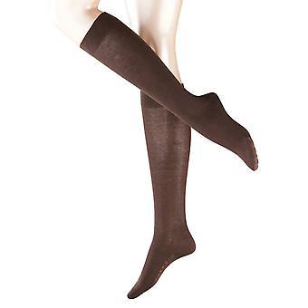 Falke gevoelige Londen sokken knie hoge - donkerbruin