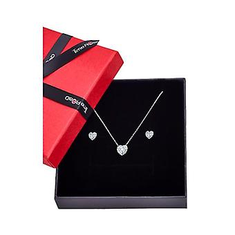 Lotus jewels necklace and earrings gift set ws00750