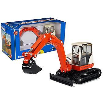 Spielzeugbagger - orange mit großem Arm - 16 x 5 cm