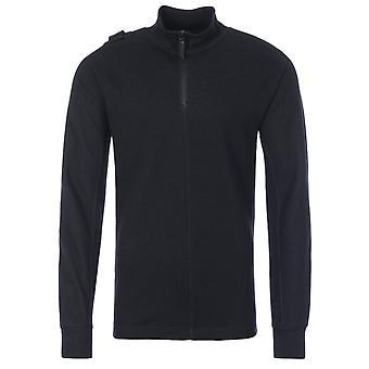 MA.Strum Double Face Pique Half Zip Sweatshirt - Black