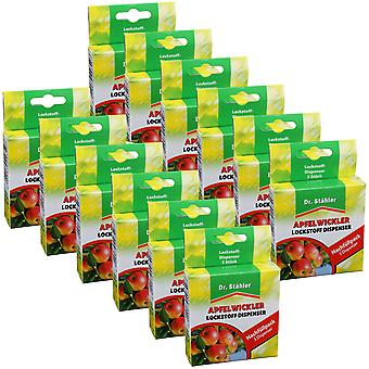 Sparset : 12 x DR. STÄHLER Enrouleur de pomme phéromone, 3 distributeurs