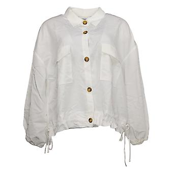 Brittany Humble Women's Cropped Cargo Jacket White 755972