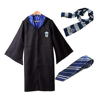 Costume d'Halloween Harry Potter Robe + Foulard + Cravate Uniforme Costume