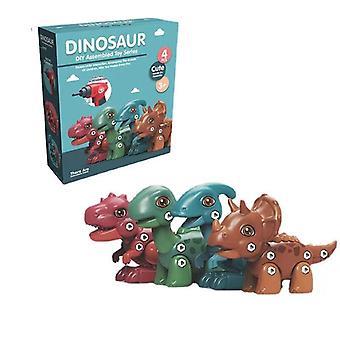 Diy Dinosaur Demontáž Hračka Šroub šroub sestava Elektrický šroubovák Puzzle Kreativní Ruční Dětský Model
