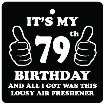 79e verjaardag belabberde auto luchtverfrisser