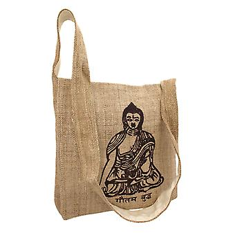 Natural Color Hemp Bag With Buddha
