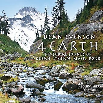 Dean Evenson - 4 Earth: Natural Sounds of Ocean Stream River Pond [CD] USA import