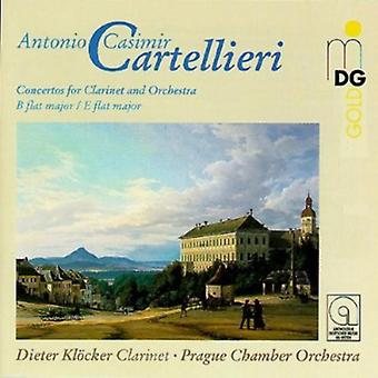 A.C. Cartellieri - Cartellieri: Concertos for Clarinet and Orchestra Vol. 1 [CD] USA import