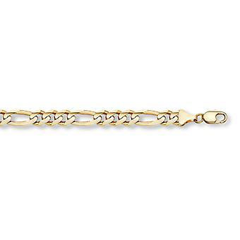14K Gold Figaro Link Bracelet (11mm)