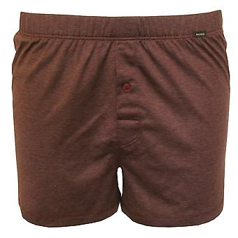 Hanro Sporty Stripe Boxer Short, Burgundy