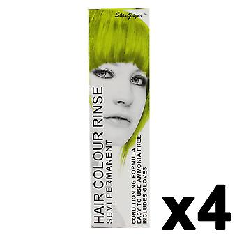 Semi Permanent Hair Dye by Stargazer - Lime x 4  Packs