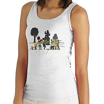Yellow Fever the Simpsons Walking Dead Women's Vest