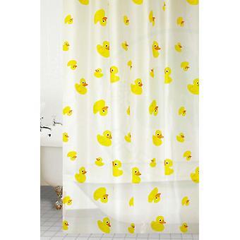 Yellow Ducks Peva Shower Curtain 180 X 180CM