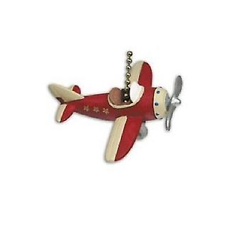 Airplane Pilot Plane Flyer Kid Room Ceiling Fan or Light Pull Three Dimensional