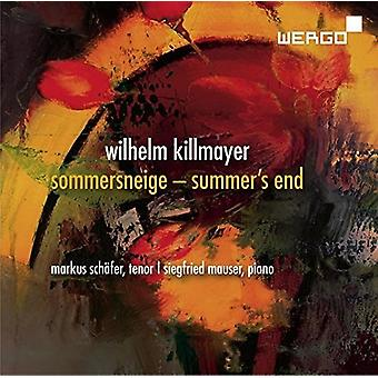 Killmayer / Schafer / Mauser - Sommersneige / Summer's End [CD] USA import