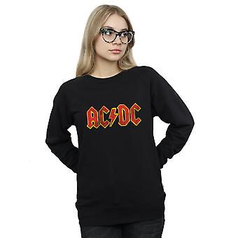 AC/DC angustiado logotipo vermelho camisola mulher