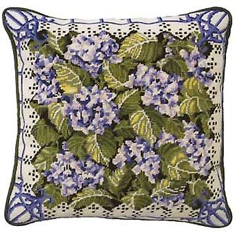 Blue Hydrangea Needlepoint Canvas