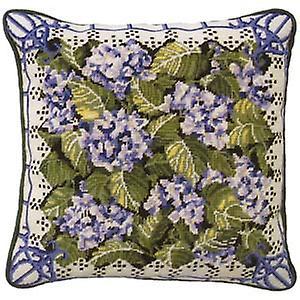 Hortensia bleu Kit Tapisserie