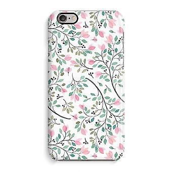 Caso iPhone 6 6s caso 3D (brilhante)-flores delicadas