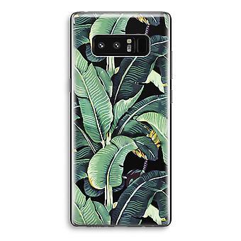 Samsung Galaxy Note 8 gjennomsiktig Case (myk) - banan blader