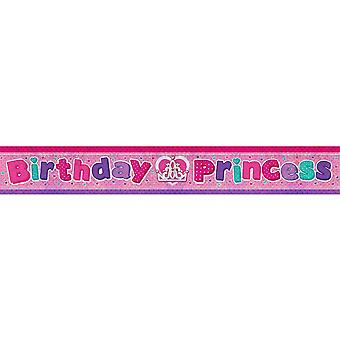 Amscan Birthday Princess Holographic Foil Banner