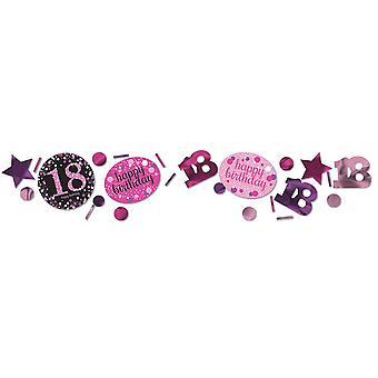 Amscan 1.2oz Pink Sparkling 18th Birthday Confetti
