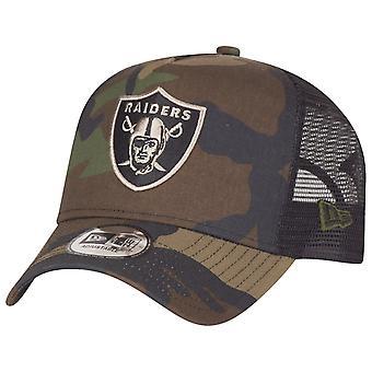 Ny era justerbar Truckerkeps - Oakland Raiders trä camo