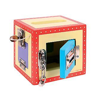 Bigjigs leikkikalut puinen merkitä lukko laatikko lasten taapero toiminnan keskus Pelaa lelu