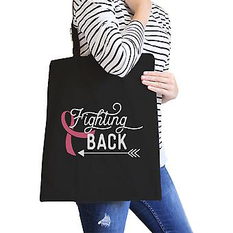 Fighting Back Arrow Foldable Canvas Bag For Breast Cancer Awareness